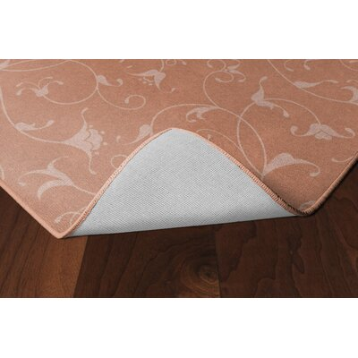 Demetra Simple Floral Salmon Area Rug Rug Size: Rectangle 76 x 10