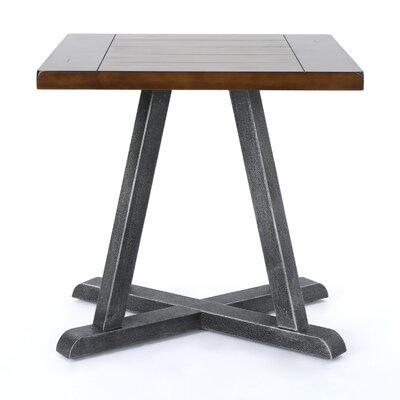 Waring Wood End Table Color: Dark Brown/Antique Black