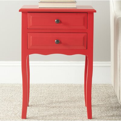 Philipston 2 Drawer Nightstand Color: Hot Red