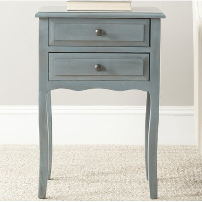 Philipston 2 Drawer Nightstand Color: Barn Blue