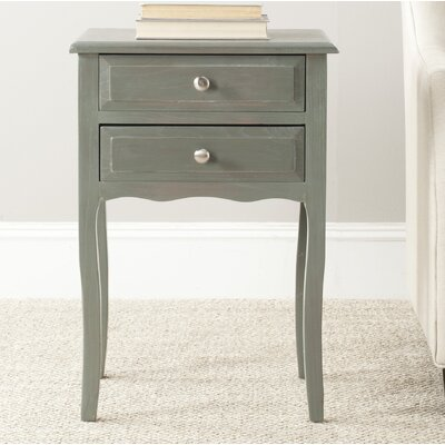 Philipston 2 Drawer Nightstand Color: French Gray
