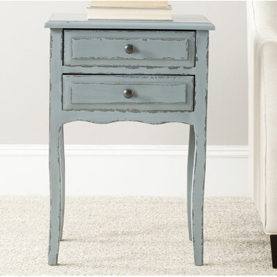 Philipston 2 Drawer Nightstand Color: Slate Green