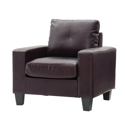 Meunier Armchair Upholstery: Dark Brown