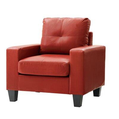 Meunier Armchair Upholstery: Red