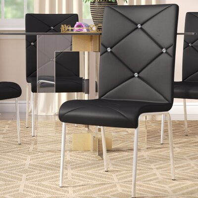 Emerystone Upholstered Side Chair Upholstery: Black