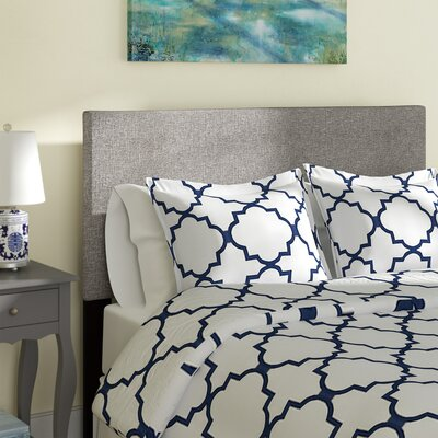 Dianna Queen Upholstered Panel Headboard Upholstery: Gray