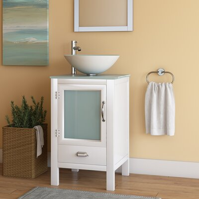 Quintana 19 Single Bathroom Vanity Set Base Finish: White
