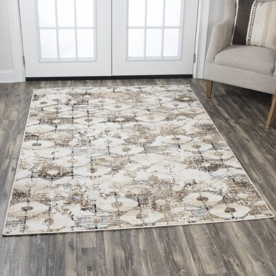 Arrighetto Beige Area Rug Rug Size: Rectangle 8 x 10