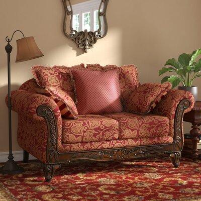Belmond Standard Loveseat Upholstery: Momentum Magenta / Safari / Sateena