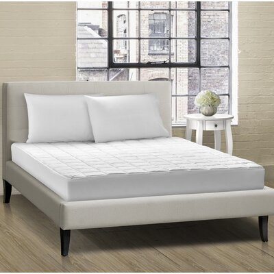 All Season Cloud Comfort Box Quilt Polyester Mattress Pad Bed Size: Twin