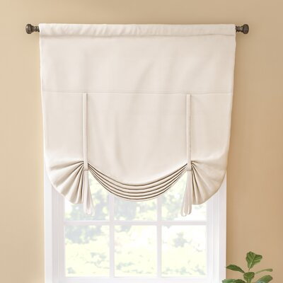 Columbia Blackout Window Tie-Up Shade Color: Ivory