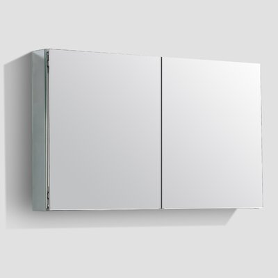 Jared 48 x 27 Surface Mount Medicine Cabinet with LED Lighting