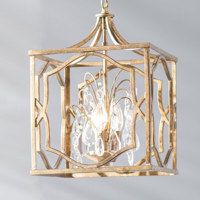 Destrey 3-Light Foyer Pendant Finish: Antique Gold