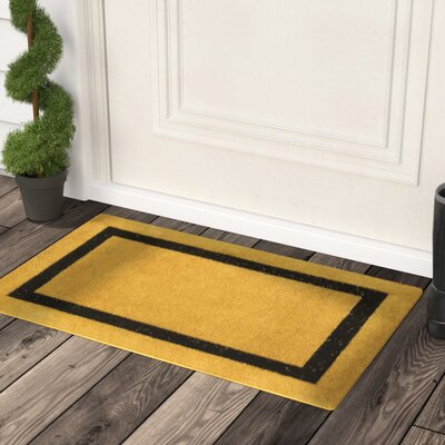 Lafond Border Coco Coir Welcome Doormat Mat Size: 16 x 26