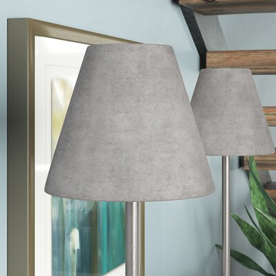 6 Suede Empire Candelabra Shade Color: Silver
