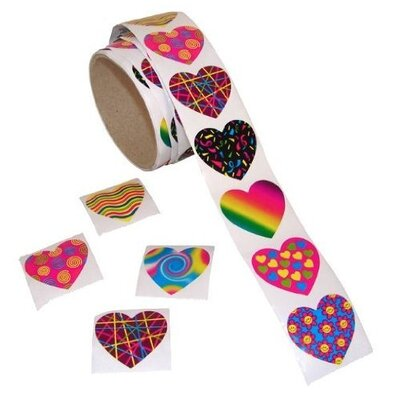 "1.5"" Funky Heart Sticker Kc-12/1885-w"