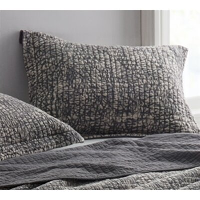 Flippen Filter Stone Washed Cotton Sham Size: Standard/Twin, Color: Pewter