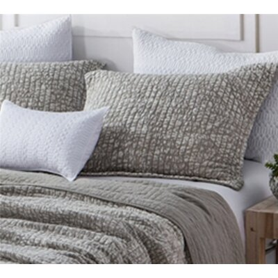 Flippen Filter Stone Washed Cotton Sham Size: Standard/Twin, Color: Silver Birch