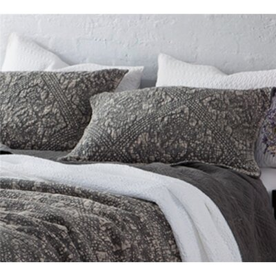 Florez Gradient Stone Washed Cotton Sham Size: King, Color: Pewter