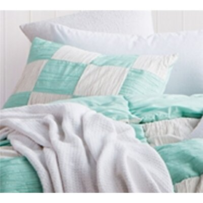 Montauk Textured Sham Size: King, Color: Yucca/Off White