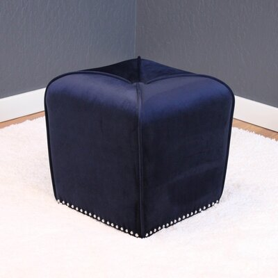 Westberry Cube Ottoman Upholstery: Ink Navy