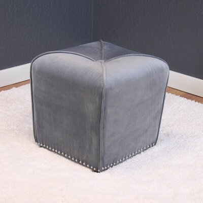 Westberry Cube Ottoman Upholstery: Sharkfin Gray