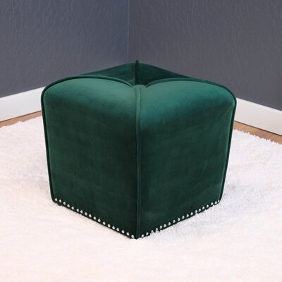 Westberry Cube Ottoman Upholstery: Emerald Green