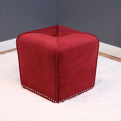 Westberry Cube Ottoman Upholstery: Deep Red