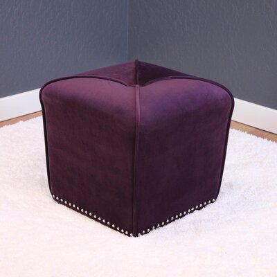 Westberry Cube Ottoman Upholstery: Plum Wine