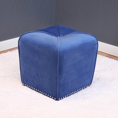 Westberry Cube Ottoman Upholstery: Sky blue