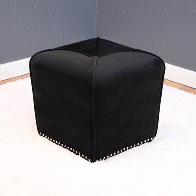 Westberry Ottoman Upholstery: Black