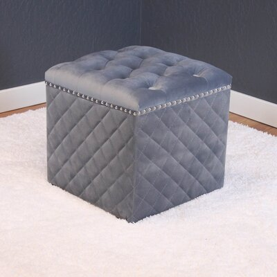 Westbrooks Cube Ottoman Upholstery: Sharkfin Gray