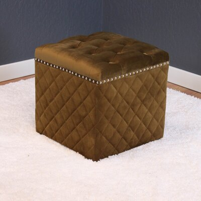 Westbrooks Cube Ottoman Upholstery: Brown Sugar