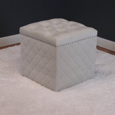 Westbrooks Ottoman Upholstery: White