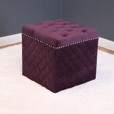 Westbrooks Cube Ottoman Upholstery: Plum Wine