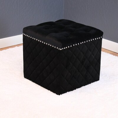 Westbrooks Cube Ottoman Upholstery: Black