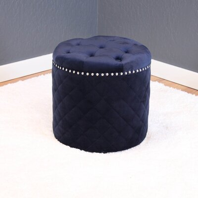 Westbrooks Round Ottoman Upholstery: Ink Navy