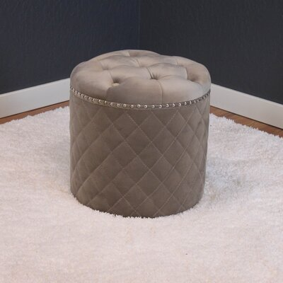 Westbrooks Round Ottoman Upholstery: Taupe