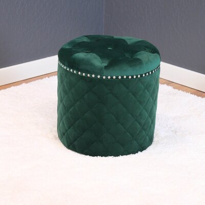 Westbrooks Ottoman Upholstery: Emerald Green