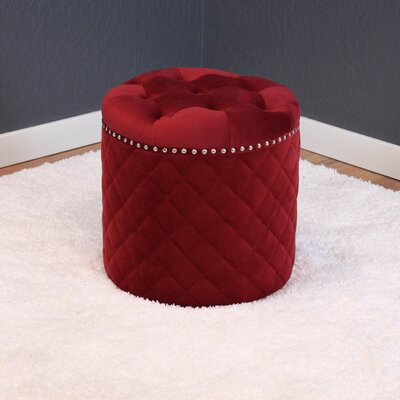Westbrooks Ottoman Upholstery: Deep Red