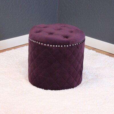 Westbrooks Round Ottoman Upholstery: Plum Wine
