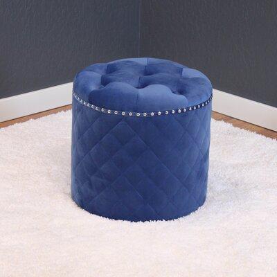Westbrooks Round Ottoman Upholstery: Sky blue
