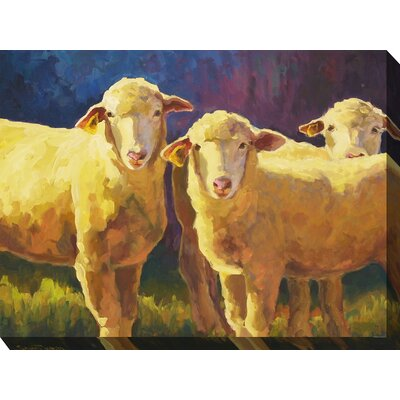 'Golden Girls' Oil Painting Print on Wrapped Canvas 1FF6B934D33541699293622BACFD9A80