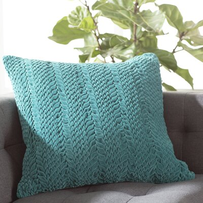Stoney Littleton 100% Cotton Throw Pillow Size: 18 H x 18 W, Color: Teal Green, Filler: Down