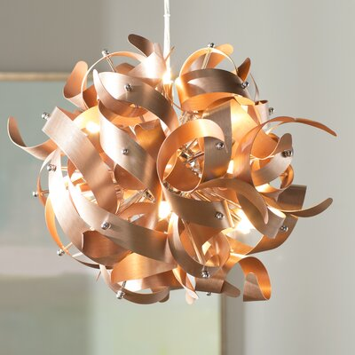 Jaelyn 5-Light Geometric Pendant Finish: Satin Copper, Size: 23 x 23