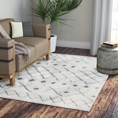 Olga Ivory Area Rug Rug Size: Rectangle 23 x 8