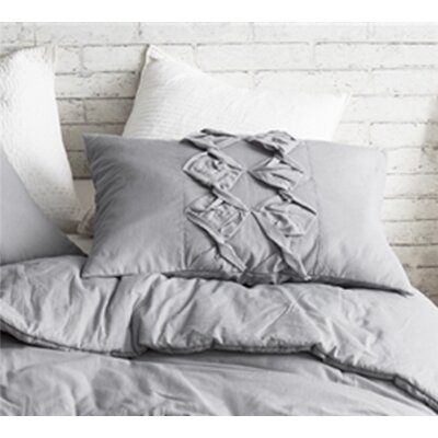 Flournoy Textured Sham Size: Standard/Twin, Color: Alloy Gray