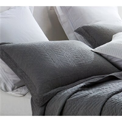 Maser Cotton Virtue Textured Sham Size: Standard/Twin, Color: Alloy Gray