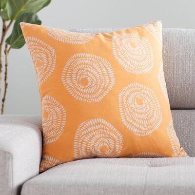 Millett 100% Cotton Pillow Cover Size: 20 H x 20 W x 1 D, Color: OrangeGray
