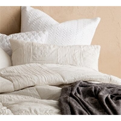 Montauk Textured Sham Size: Standard/Twin, Color: Off White